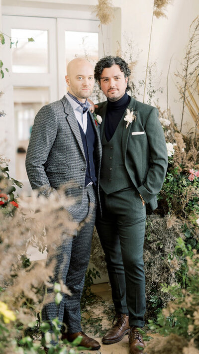 male couple at wedding