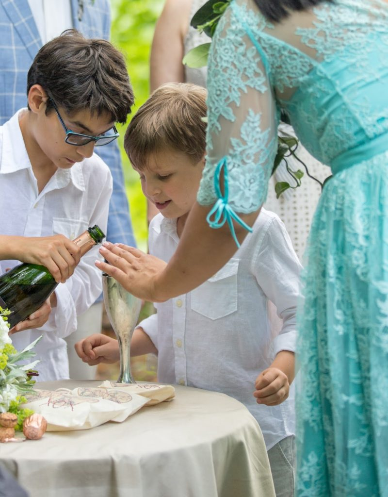 A full cup Alisa Tongg Celebrant Family Vow Renewal at The Living Wall at Promise Ridge Jeremie Barlow Photography
