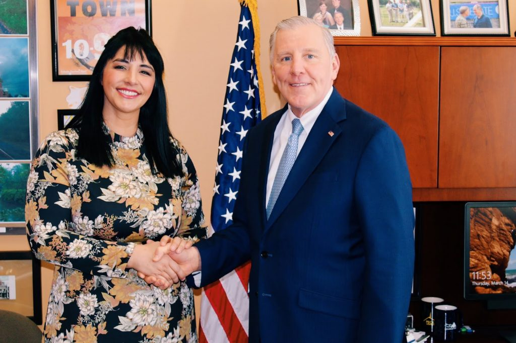 Celebrant Alisa Tongg with Pennsylvania Senator John Blake