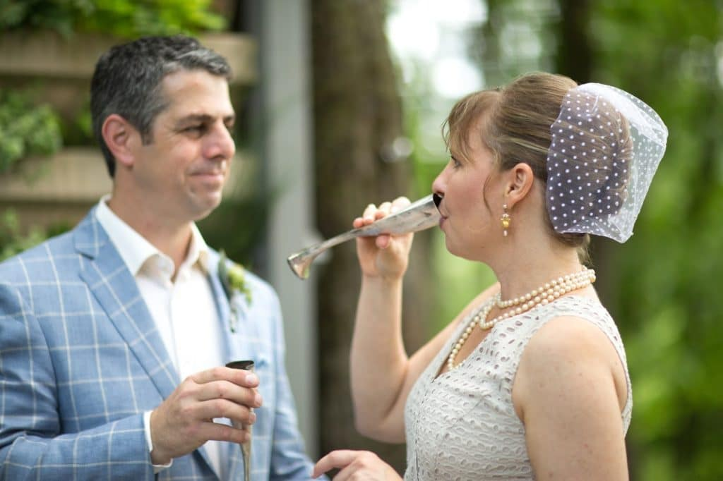 Cheers Alisa Tongg Celebrant Family Vow Renewal at The Living Wall at Promise Ridge Jeremie Barlow Photography