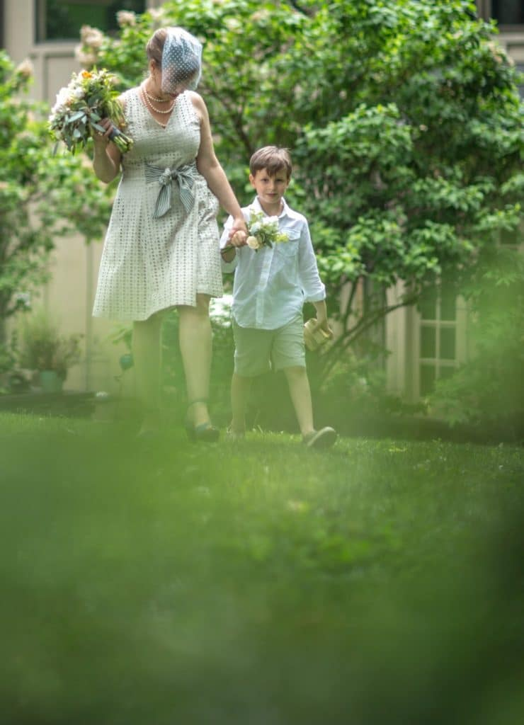 Processional Alisa Tongg Celebrant Family Vow Renewal at The Living Wall at Promise Ridge Jeremie Barlow Photography