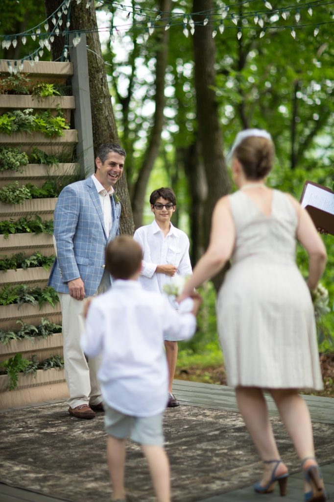 Processional II Alisa Tongg Celebrant Family Vow Renewal at The Living Wall at Promise Ridge Jeremie Barlow Photography