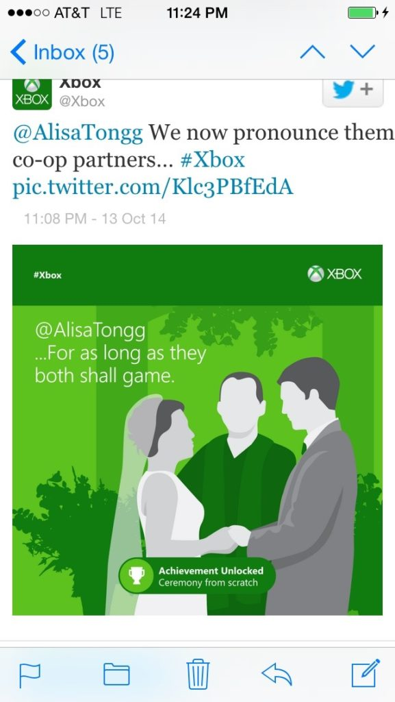 alisa tongg celebrant xbox sends their best wishes to christian and michael copy