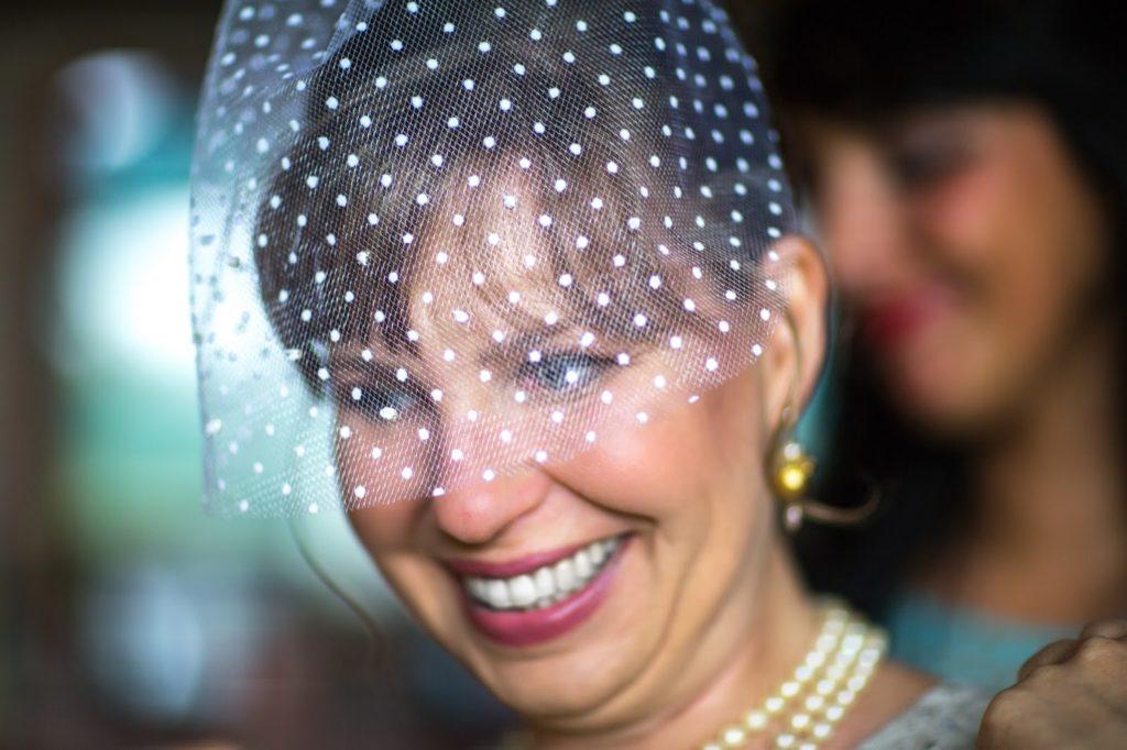 blushing bride birdcage veil alisa tongg celebrant jeremie barlow photography 2287 1