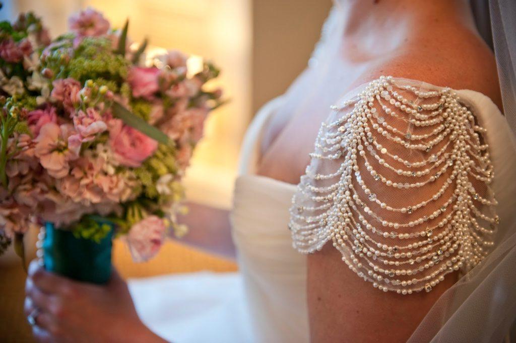 carly beaded cap sleeves wedding dress alisa tongg celebrant heather fowler photography