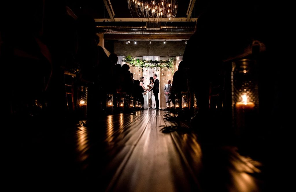 ceremony space alisa tongg celebrant front palmer werth photography