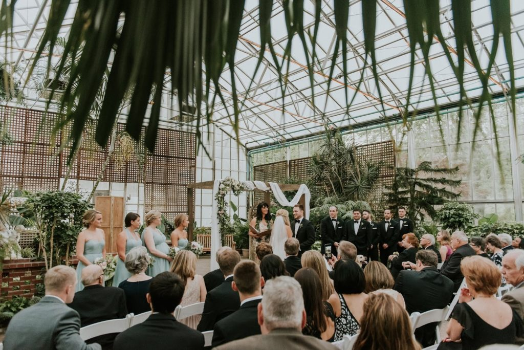 ceremony space indoor alisa tongg celebrant horticultural center wedding m2 photography