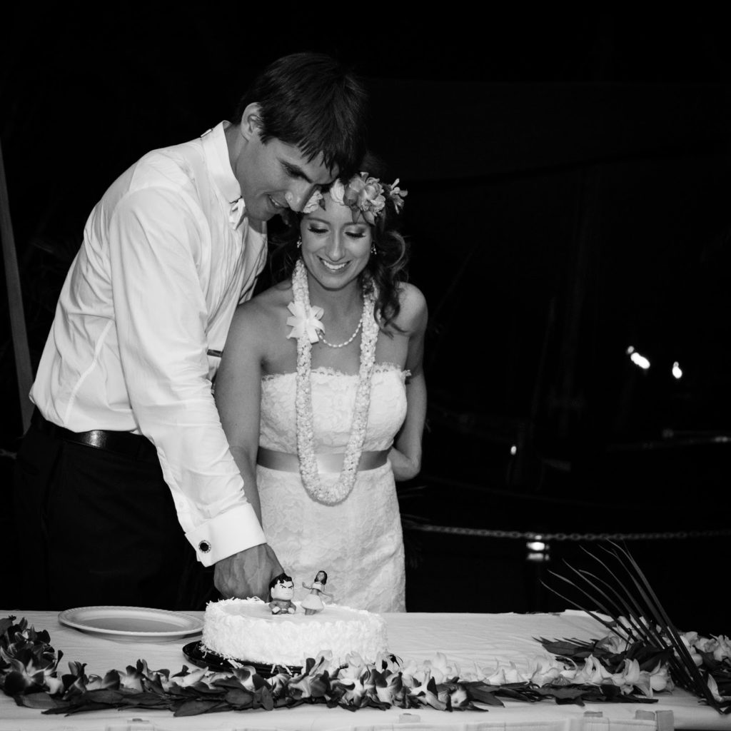emily and philip cut their cake alisa tongg celebrant chelsea heller photography