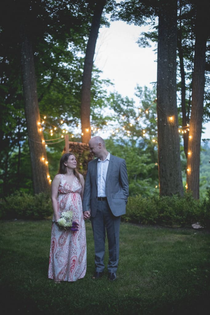 first steps in the married life Blue Hour Elopement at The Living wall at Promise Ridge Rob Yaskovic Photography