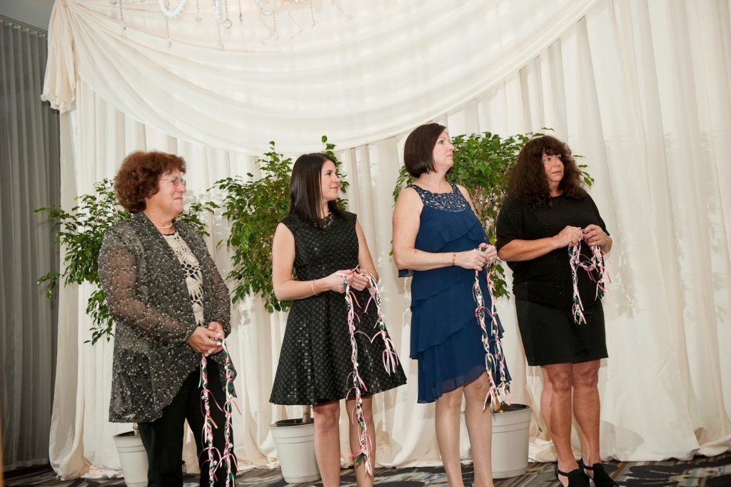 four family members with four virtues handfasting alisa tongg celebrant heather fowler photography