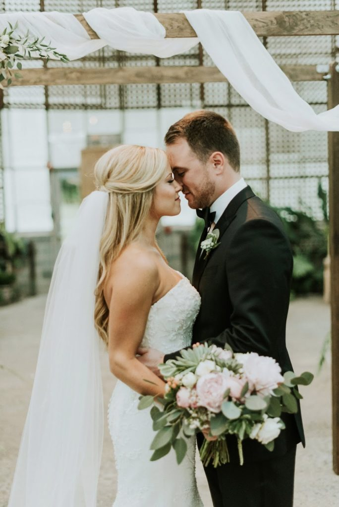 nose to nose alisa tongg celebrant horticultural center wedding m2 photography
