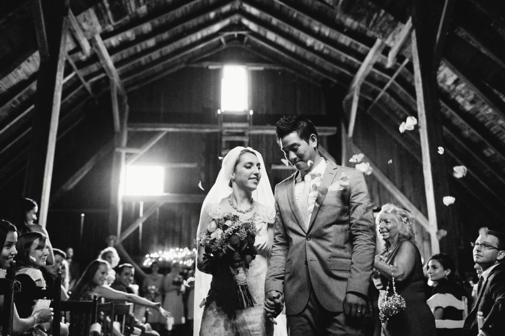 recessional friedman farms barn ceremony alisa tongg celebrant with love and embers photography