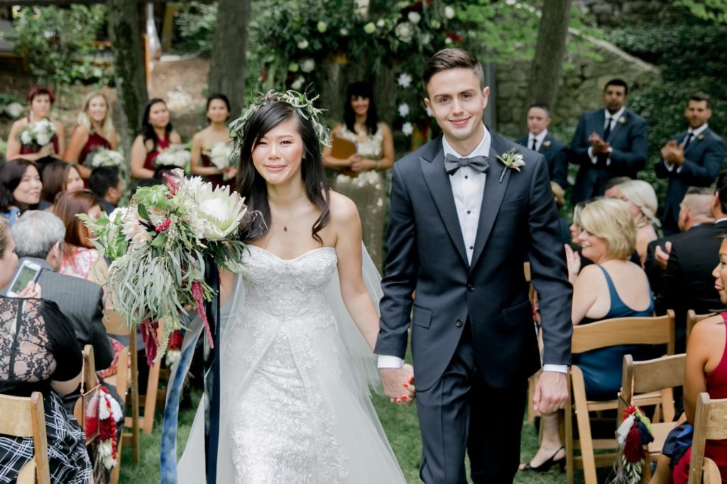 recessional susan and tom at pomme at radnor alisa tongg celebrant emily wren photography