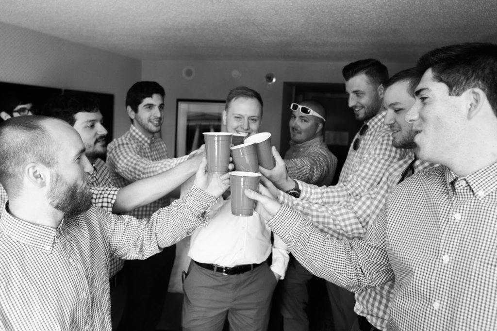 red solo cup cheers alisa tongg celebrant race street peir philadelphia wedding emily wren photography