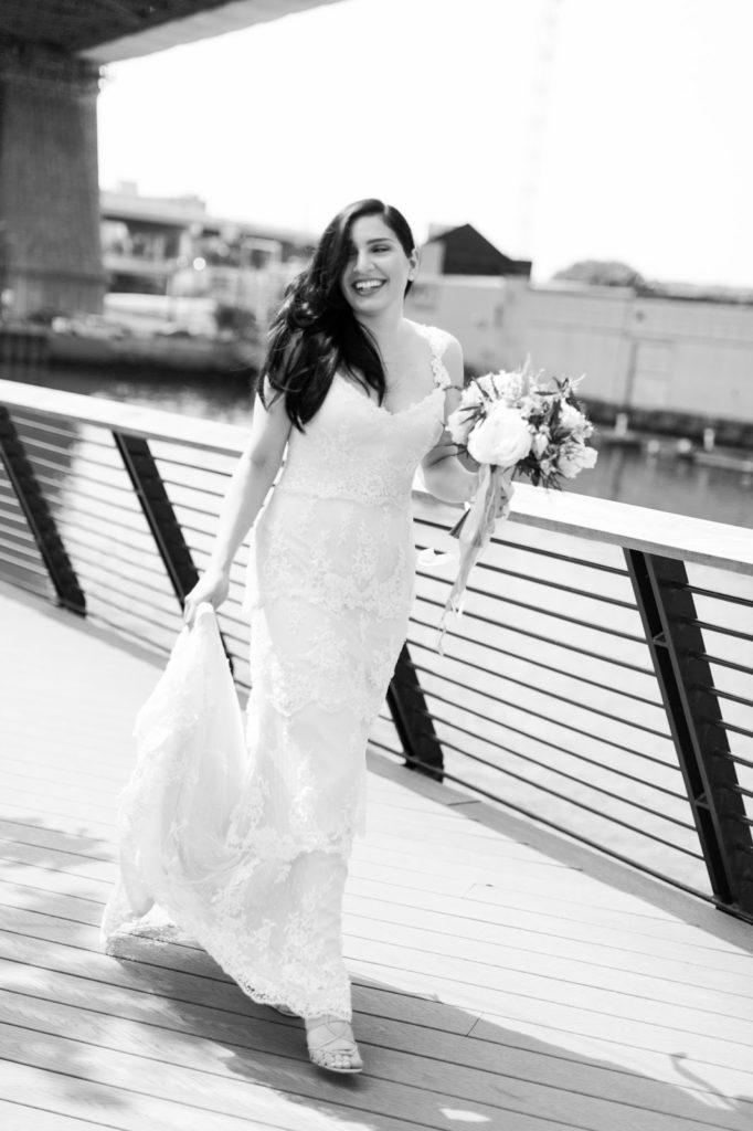 tiffany arrives alisa tongg celebrant race street peir philadelphia wedding emily wren photography