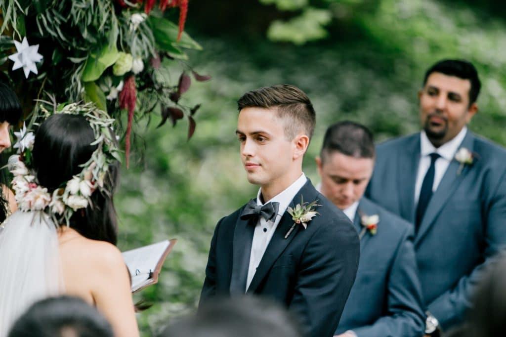 tom looks at susan during handfasting alisa tongg celebrant emily wren photography