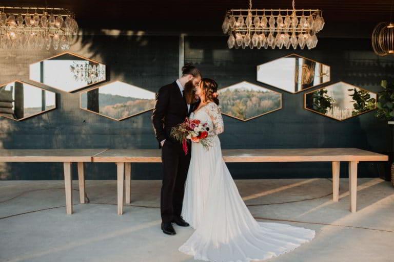 wedding-couple-polygon-mirrors