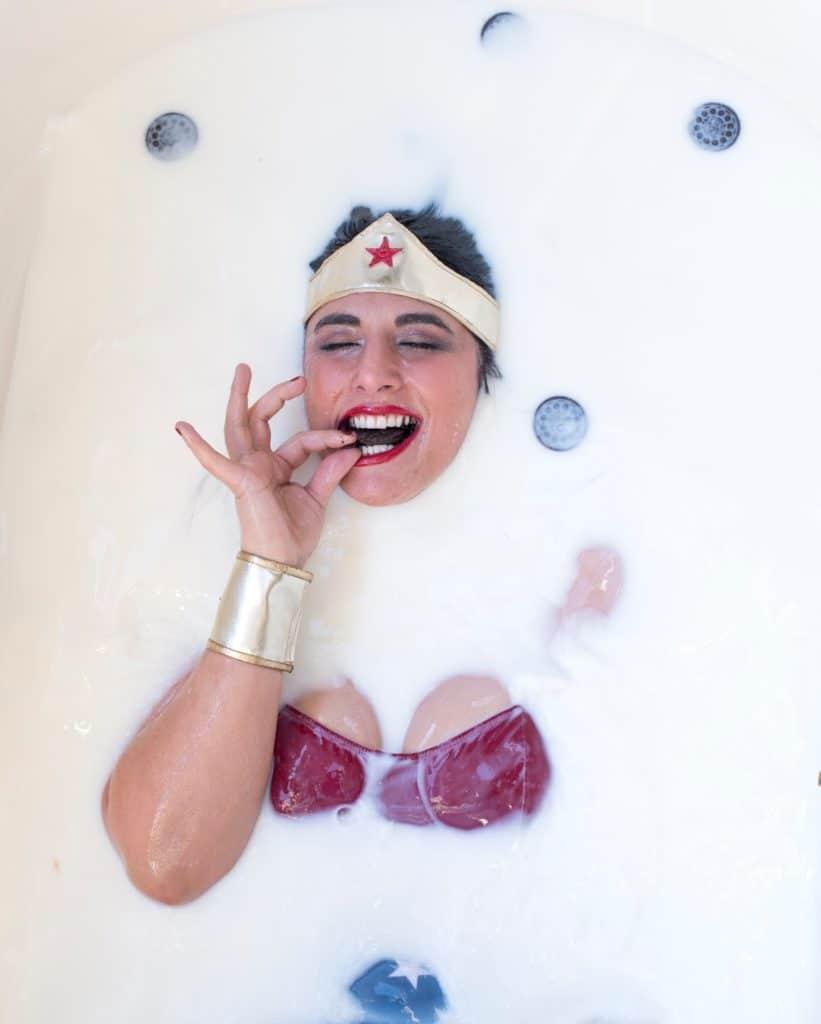 wonderwoman oreo milk bath rob yaskovic photography
