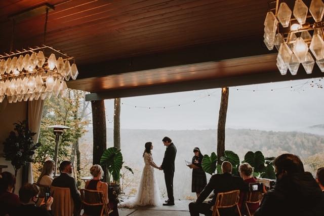 Kristen + Bryan, Pavilion, love and light studio