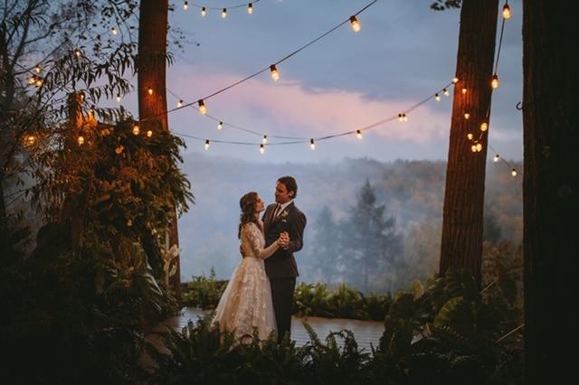 Kristen and Bryan, sunset, Love and Light Studio